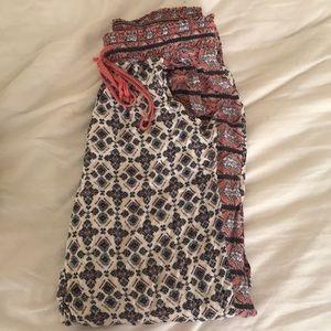 Pattern lounge pants